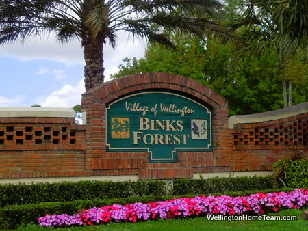 Binks Forest Homes for Sale in Wellington Florida | Search by Village