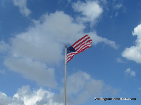 Wellington Veterans Memorial - American Flag