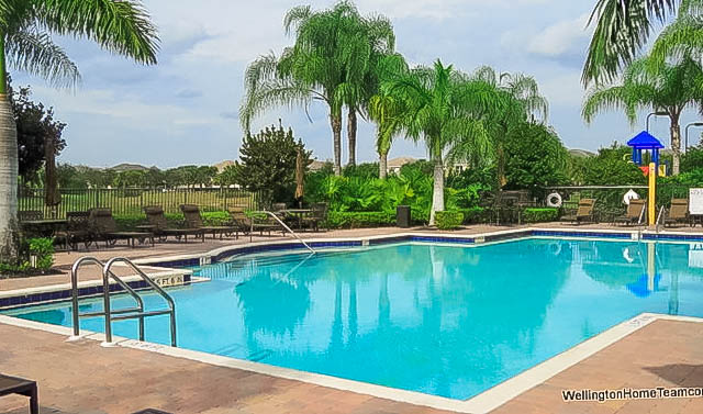 Black Diamond Homes for Sale in Wellington Florida - Community Swimming Pool