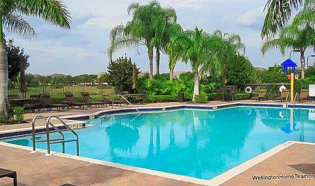 Black Diamond Homes for Sale in Wellington Florida - Community Swimming Pool