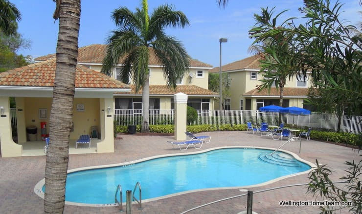 Towne Place Townhomes for Sale in Wellington Florida - Pool