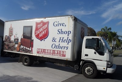 Salvation Army Sofa Pick Up Donating Furniture To Goodwill