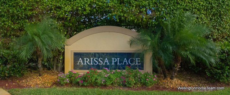 Arissa Place Wellington Florida Real Estate Site Plan