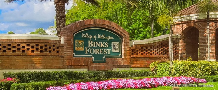 Binks Forest Recent Home Sales in Wellington Florida