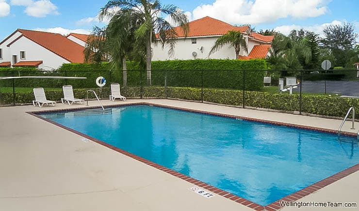 Wellington Place Townhomes for Sale in Wellington Florida -Community Swimming Pool