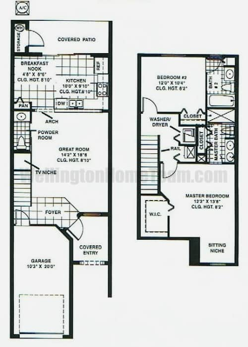 Towne Place Townhomes in Wellington FL - Astor