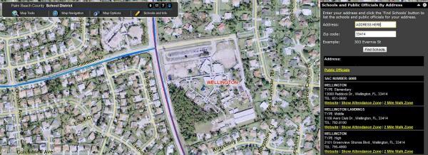 Wellington School Locator by Address