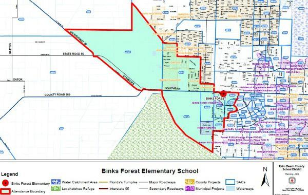 Wellington School Locator by Boundary Map
