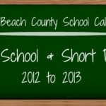 Palm Beach County School Calendar for 2012-2013
