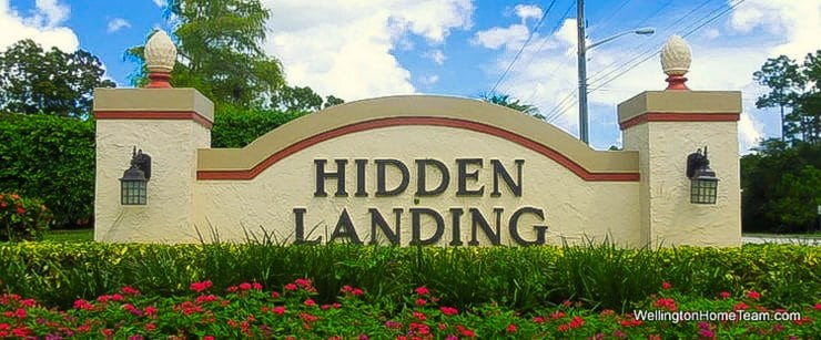Hidden Landing Wellington Florida Real Estate Site Plan