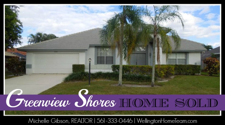 Greenview Shores Wellington Florida Home Sold | 1688 Wiltshire Village