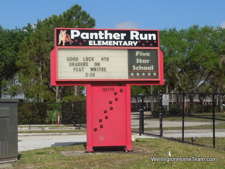 Panther Run Elementary School in Wellington Florida
