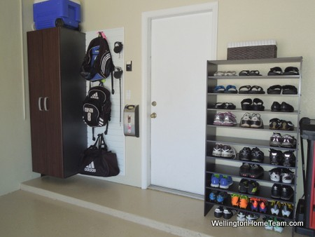 Makeover your Garage for Less than $2,000 Shoe Rack