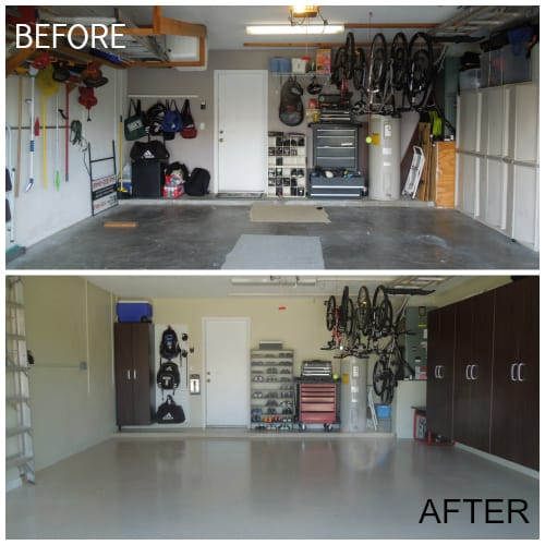 Makeover your Garage for Less than $2,000 Before and After