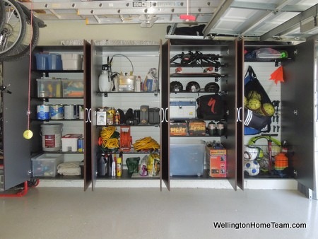 Makeover your Garage for Less than $2,000 Organized Cabinets