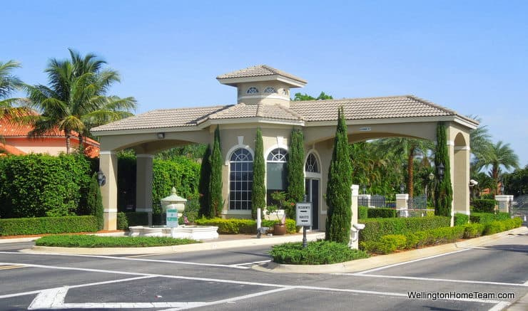Polo West Homes for Sale in Wellington Florida - Gate