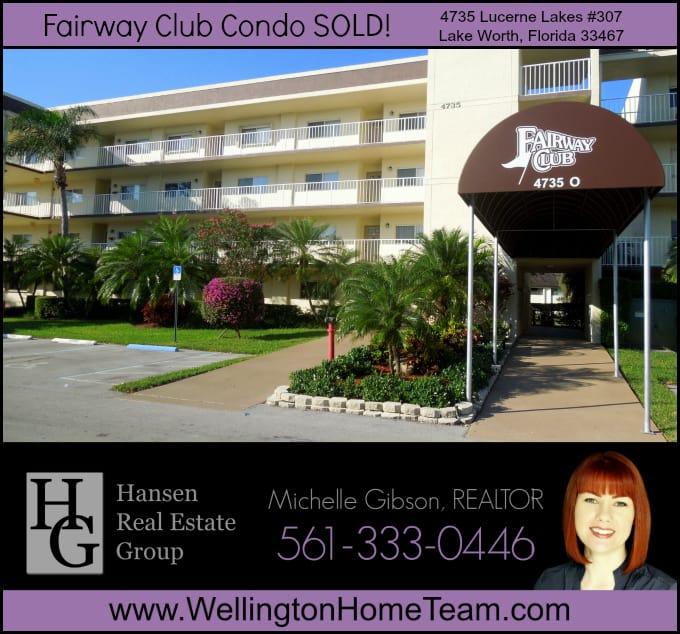 Fairway Club Condo SOLD 4735 Lucerne Lakes #307, Lake Worth, Florida 33467