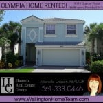Olympia Home Rented! 9070 Dupont Place, Wellington, Florida 33414