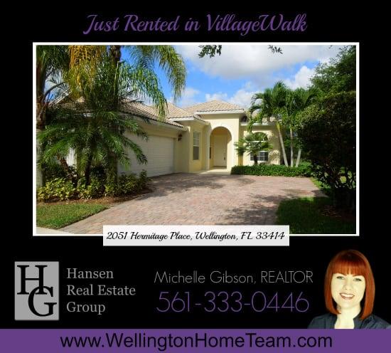 Just Rented in VillageWalk - 2051 Hermitage Place Wellington Florida 33414