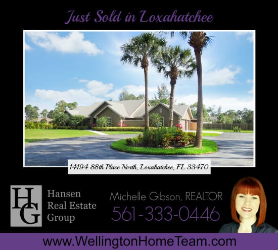 Just Sold in Loxahatchee - 14194 88th