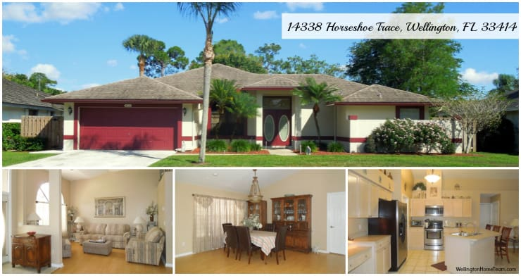 Sugar Pond Manor Home for Sale - 14338 Horseshoe Trace, Wellington, Florida 33414 MLS# RX-10125461