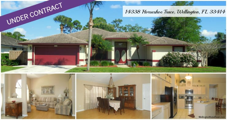 Sugar Pond Manor Home for Sale in Wellington Florida - 14338 Horseshoe Trace Under Contract