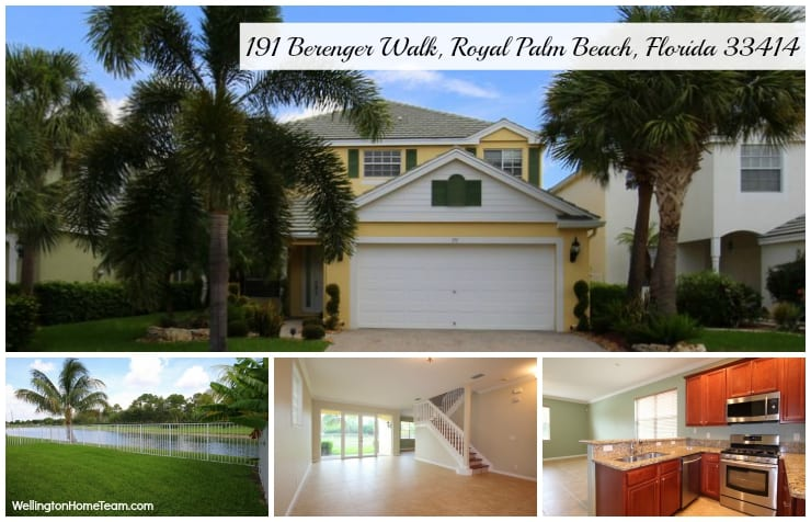 Victoria Grove Home for Rent | 191 Berenger Walk, Royal Palm Beach, Florida 33414 MLS# RX-10151904