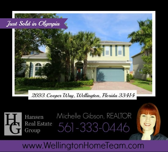Olympia Home SOLD! 2693 Cooper Way, Wellington, Florida 33414