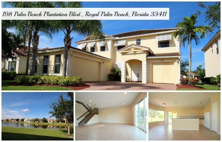 Palm Beach Plantation Home for Rent | 198 Palm Beach Plantation Blvd., Royal Palm Beach, Florida 33411 MLS# RX-10151478
