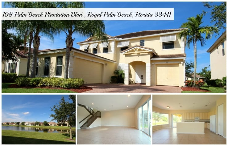 Palm Beach Plantation Home for Sale | 198 Palm Beach Plantation Blvd., Royal Palm Beach, Florida 33411 MLS# RX-10153269