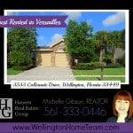 Versailles Home RENTED! 3533 Collonade Drive, Wellington, Florida 33449