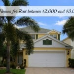 Wellington Florida Homes for Rent between $2,000 and $3,000 a Month