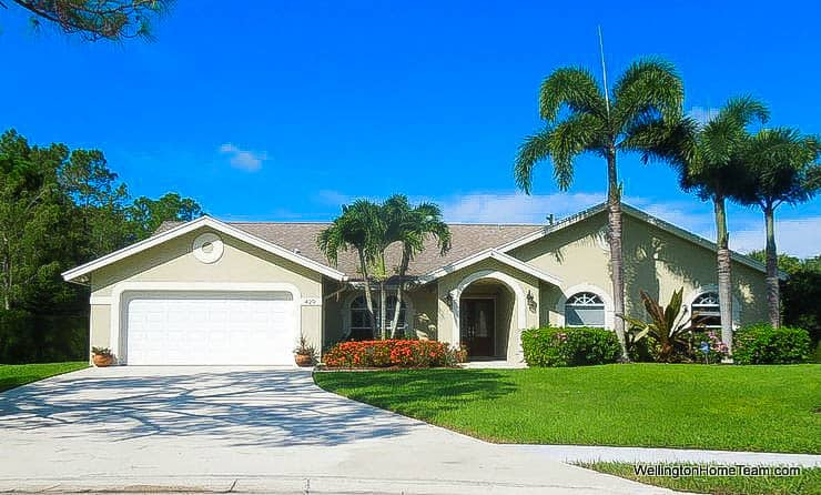 Pinewood Grove Home for Sale in Wellington Florida - Single Family Homes