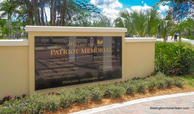 Wellington FL Patriot Memorial Honoring Our Heroes