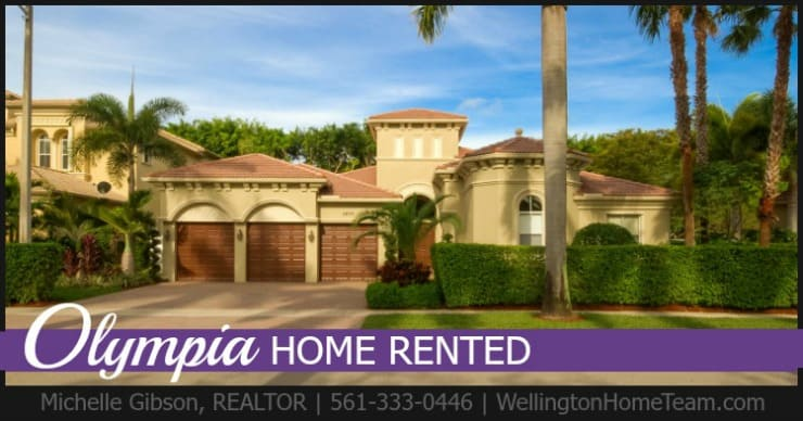Olympia Home RENTED! 2635 Treanor Terrace, Wellington, Florida 33414