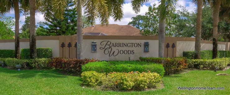 Barrington Woods Homes for Sale in Wellington Florida and Real Estate