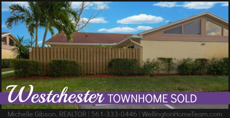 Westchester Townhome SOLD - 4371 Woodstock Dr #B, West Palm Beach, Florida 33409
