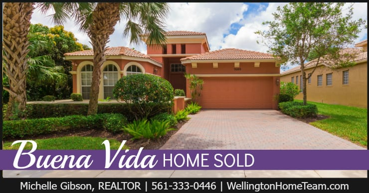 Buena Vida Home SOLD! 9929 Via Grande W, Wellington, Florida 33414