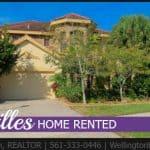 Versailles Home RENTED! 3448 Collonade Dr, Wellington, Florida 33449