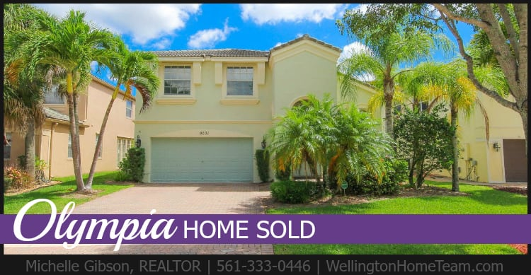 Olympia Home Sold - 9031 Alexandra Circle Wellington Florida 33414