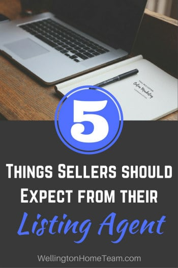 5 Things Sellers Should Expect from their Listing Agent