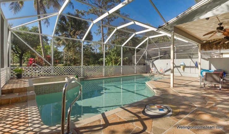 Binks Forest Pool Home for Rent in Wellington Florida - 15122 Oak Chase Ct