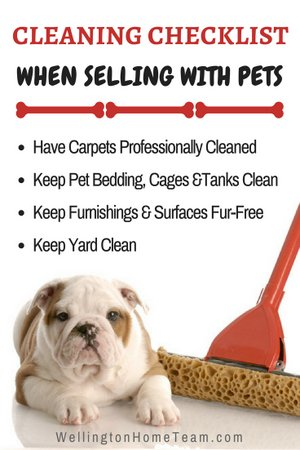 How to Sell a Home With Pets Cleaning Checklist
