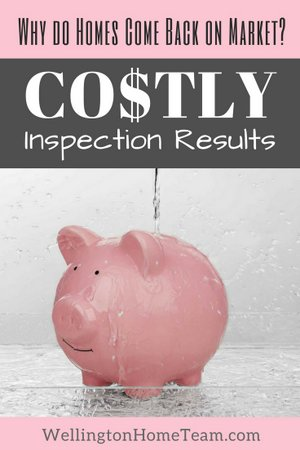 Why do Homes Come Back on Market - Costly Inspection Repairs