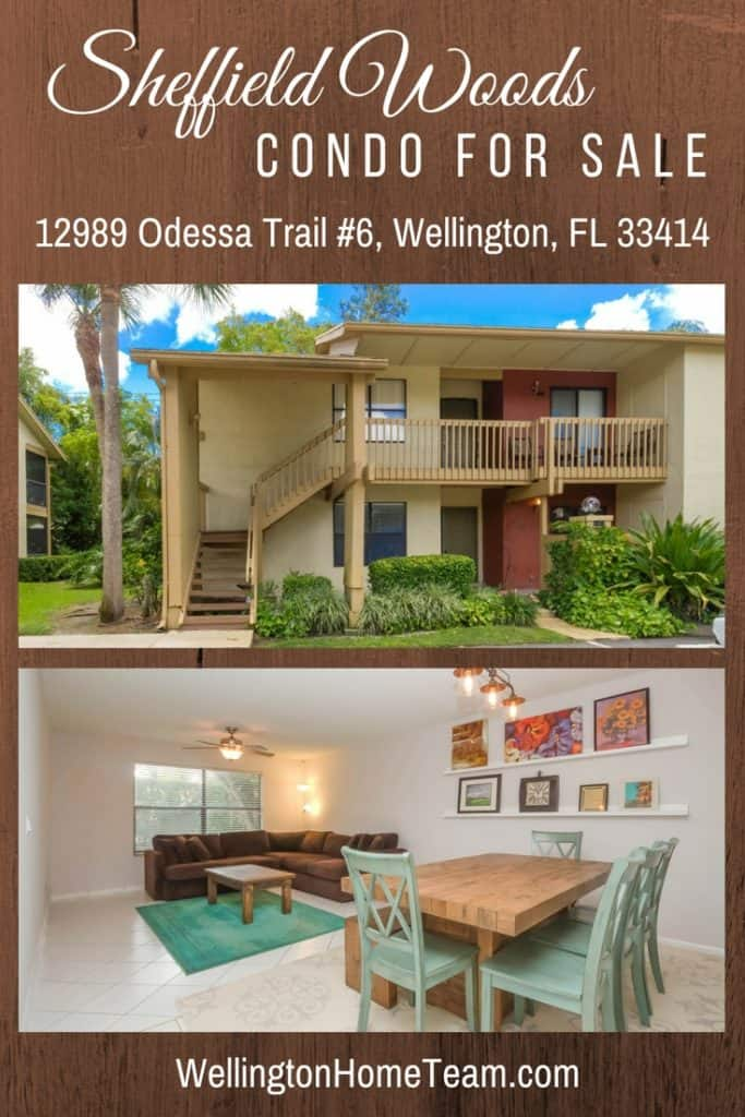 12989 Odessa Trail #6, Wellington, Florida 33414 | Sheffield Woods Condo for Sale