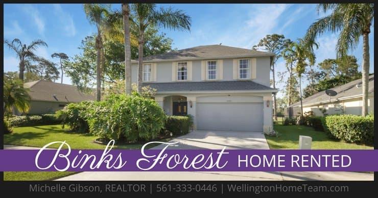 Binks Forest Home RENTED! 15122 Oak Chase Court, Wellington, Florida 33414