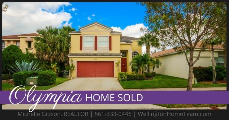Olympia Home SOLD! 9757 Scribner Lane, Wellington, Florida 33414