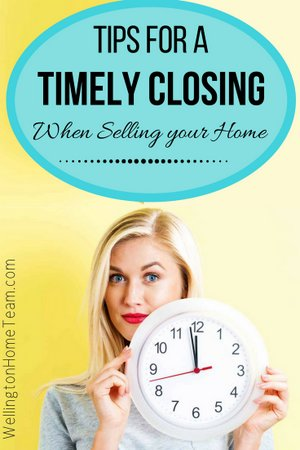 Tips for a Timely Closing when Selling your Home