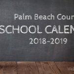 Palm Beach County School Calendar for 2018-2019