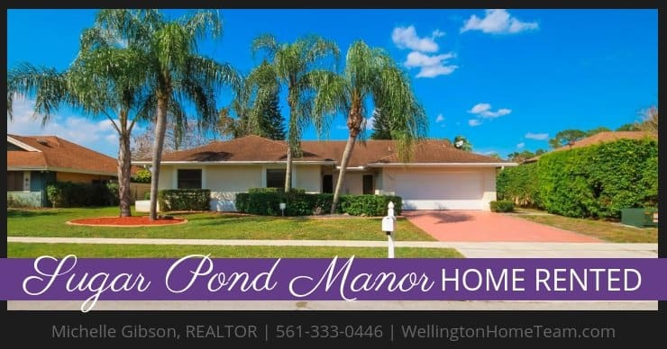 Sugar Pond Manor Home RENTED! 13459 Barberry Dr, Wellington, Florida 33414